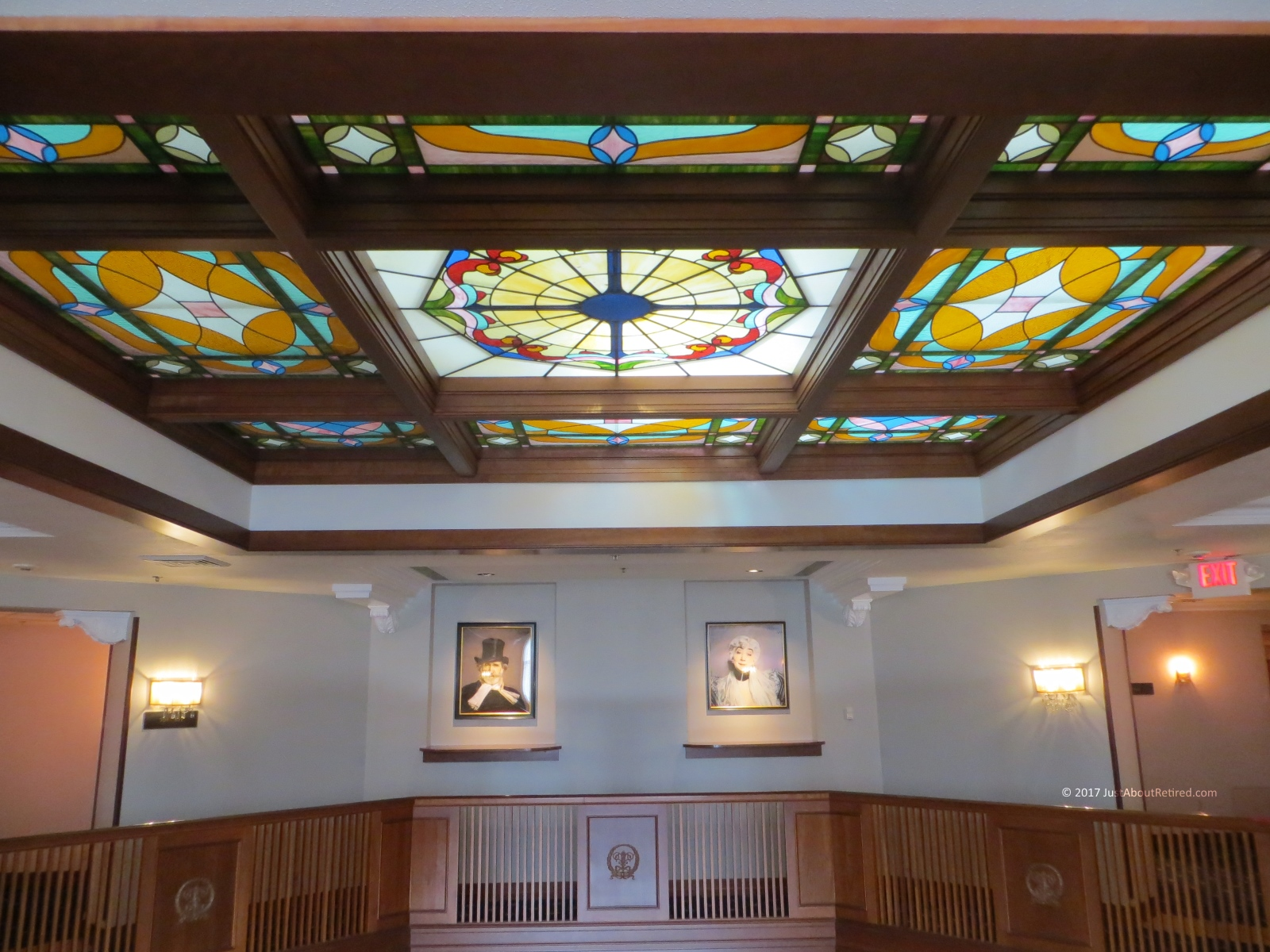 Hotel Winneshiek in Decorah, Iowa stained glass